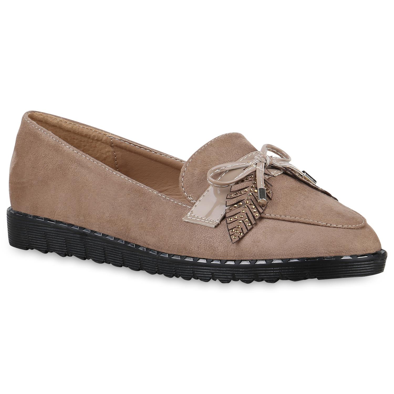 Slipper - Damen Klassische Slippers Khaki › stiefelparadies.de  - Onlineshop Stiefelparadies