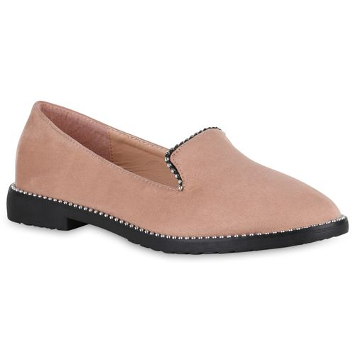 Rosa Rosa Loafers Damen Damen Rosa Damen Slippers Slippers Damen Slippers Loafers Loafers Slippers qn7OZX71