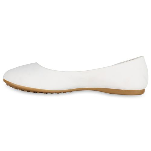 Ballerinas Klassische Damen Damen Weiß Ballerinas Klassische Weiß Damen Klassische 1avxq1Ef
