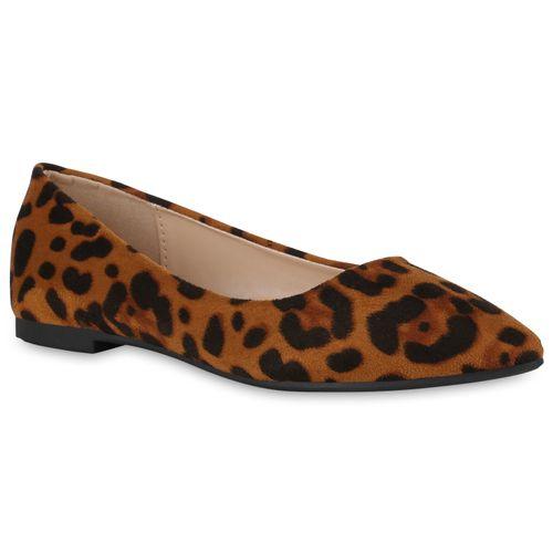 Damen Klassische Ballerinas - Leopard