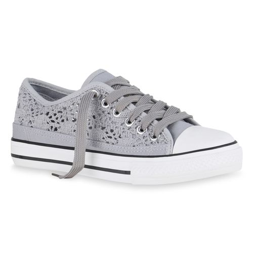 Low Damen Sneaker Sneaker Grau Damen qZnHY7