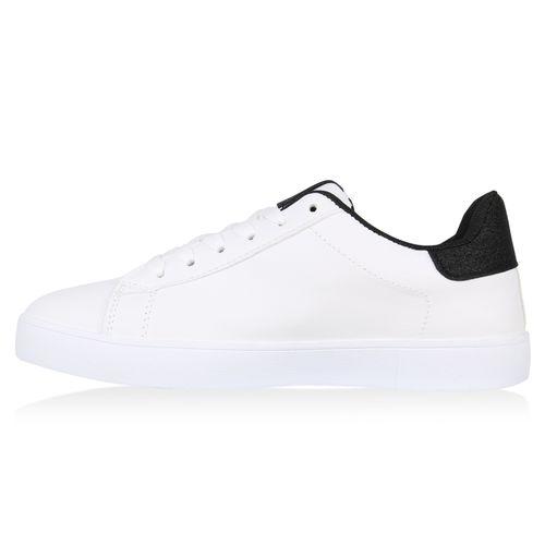 Damen Weiß Sneaker Sneaker Low Damen Low Weiß Schwarz FxYZETnYq