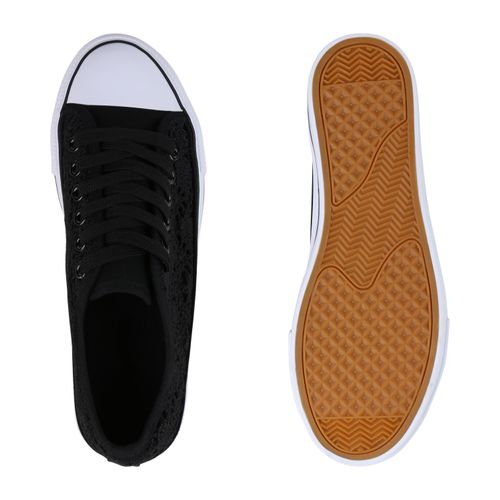 Sneaker Sneaker Sneaker Damen Plateau Schwarz Schwarz Damen Damen Plateau Plateau v8qdxagwq