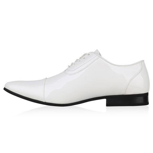 Herren Business Klassische Schnürer - Weiß