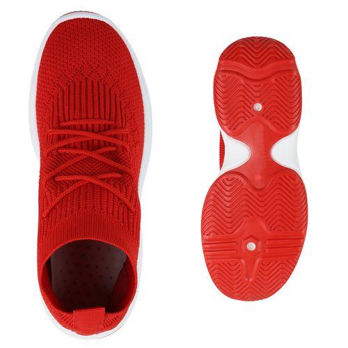 Plateau Damen Damen Rot Sneaker Plateau PBwq88
