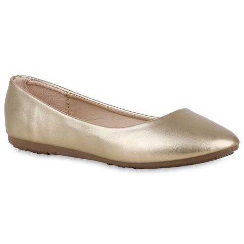 Gold Klassische Ballerinas Damen Klassische Damen vwqU8n4I