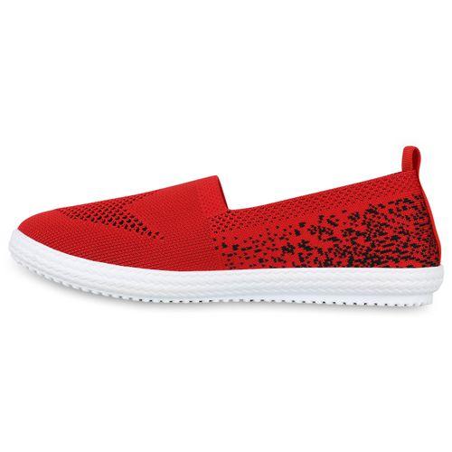Damen Damen Ons Slippers Slip Ons Rot Slip Rot Damen Slippers xq46Uw
