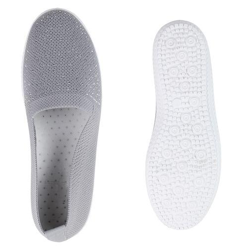 Damen Slip Ons Slip Grau Grau Slippers Damen Slip Slippers Ons Damen Slippers rSTCrq