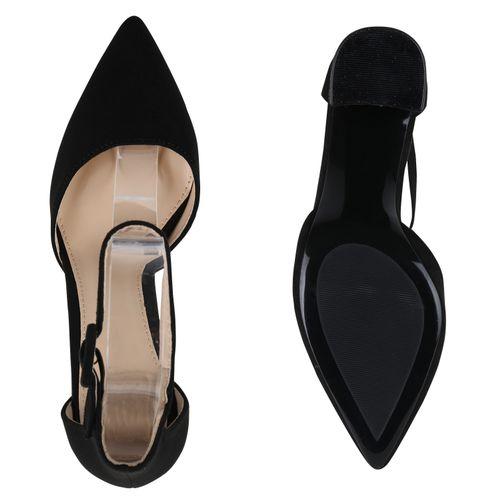 Billig Damen Schuhe Damen Pumps in Schwarz 8979233401