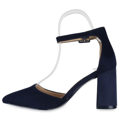 Billig Damen Schuhe Damen Pumps in Dunkelblau 897923512