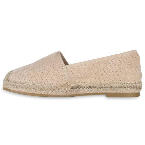 Slippers Damen Damen Creme Slippers Espadrilles za5Ex