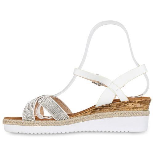Damen Sandaletten Damen Keilsandaletten Keilsandaletten Keilsandaletten Damen Weiß Weiß Sandaletten Sandaletten C4xqUrCnw