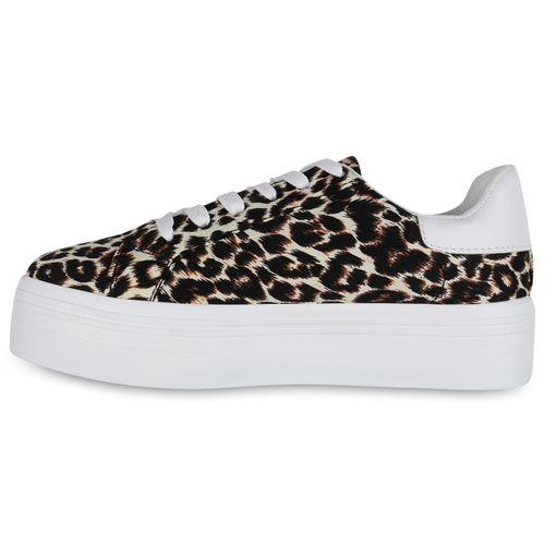 Damen Leopard Leopard Plateau Sneaker Sneaker Plateau Damen Sneaker Plateau Leopard Damen HHrE76
