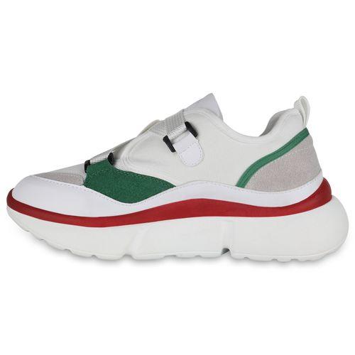 Damen Rot Damen Sneaker Weiß Plateau Plateau wrgwqZSH