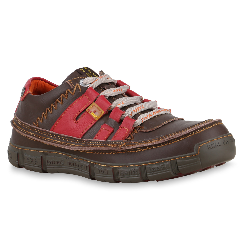 Herren Sneaker low - Braunrot