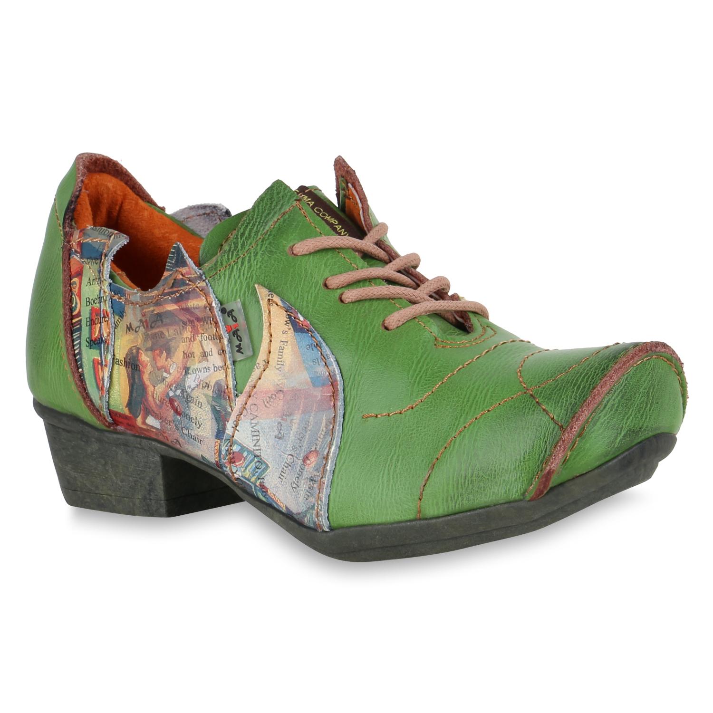 Halbschuhe - Damen Klassische Halbschuhe Grün › stiefelparadies.de  - Onlineshop Stiefelparadies