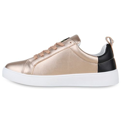 Rose Damen Sneaker Gold Sneaker Damen Low zwq0wgaP