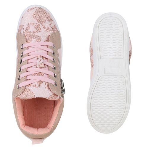 Damen Low Rosa Sneaker Damen Sneaker PSvq7x