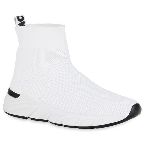 Damen Sportschuhe Slip Ons - Weiß