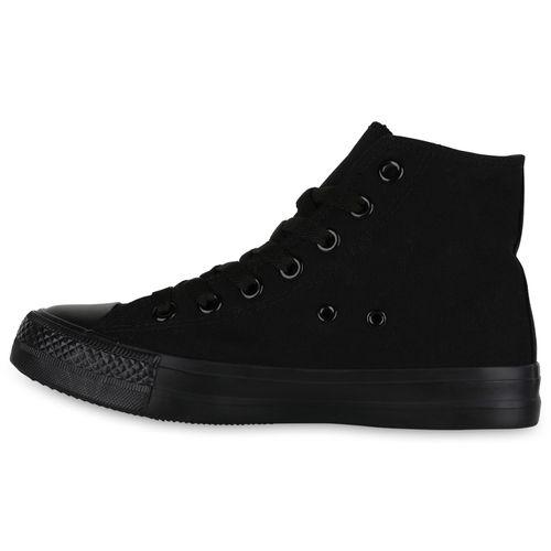 Damen Sneaker Sneaker Damen Schwarz High High 6qndqTz4U