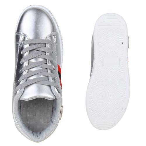 Sneaker Silber Plateau Damen Plateau Damen wqxRR6