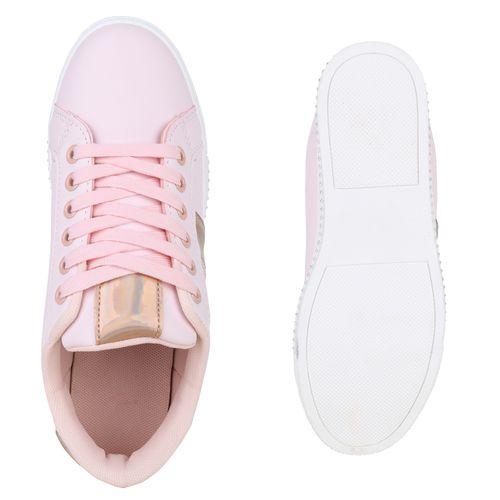 Sneaker Low Low Rosa Low Sneaker Damen Damen Sneaker Rosa Rosa Damen zwF558cq