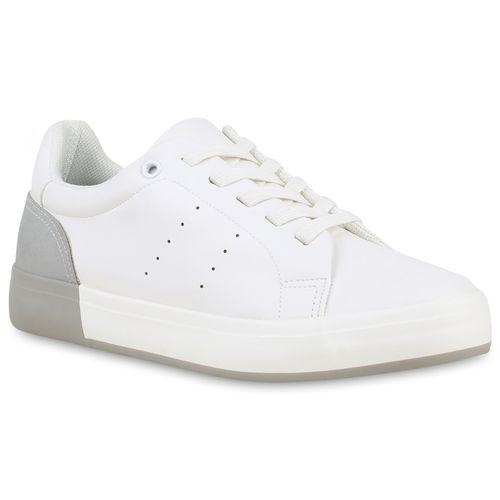 Hellgrau Sneaker Low Hellgrau Weiß Damen Sneaker Damen Low Damen Weiß OwIqIp