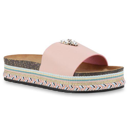 Pantoletten Sandaletten Sandaletten Sandaletten Rosa Pantoletten Damen Damen Rosa Damen Pantoletten 8qAE5n