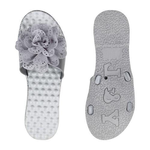 Sandaletten Damen Damen Grau Pantoletten Sandaletten Pantoletten Grau FwqTzUO