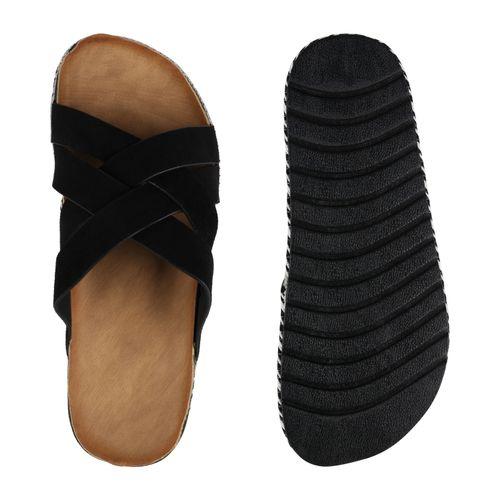 Damen Damen Schwarz Pantoletten Schwarz Pantoletten Sandaletten Sandaletten Damen Sandaletten nvqAIvx8