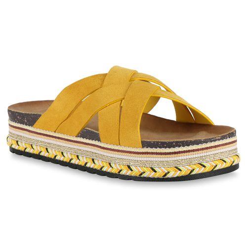 Gelb Gelb Damen Damen Gelb Damen Pantoletten Sandaletten Sandaletten Pantoletten Pantoletten Sandaletten dBeWxroC