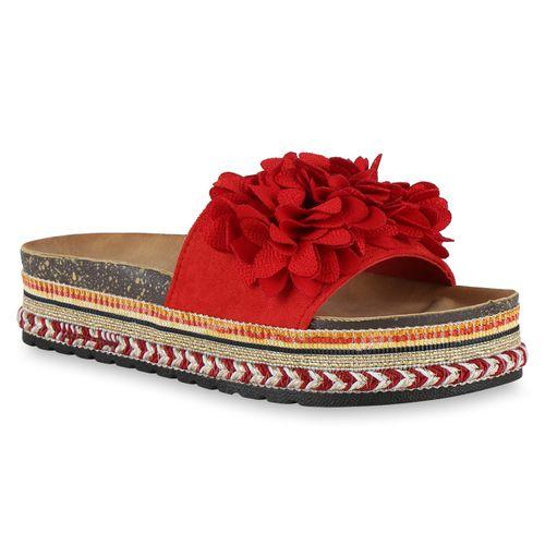 Rot Damen Sandaletten Pantoletten Damen Pantoletten Sandaletten Rot Fqzr7Ywq