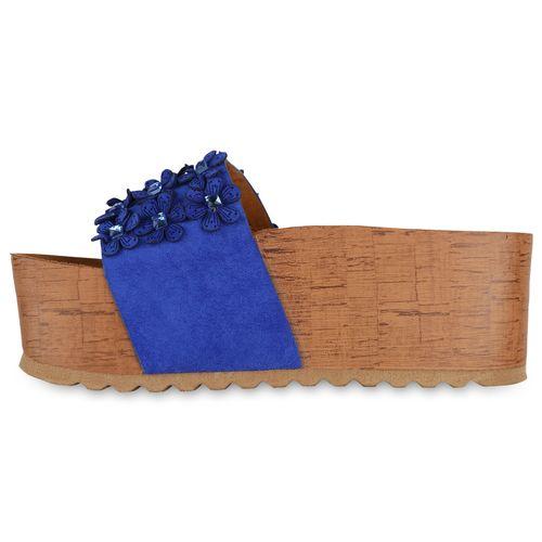 Blau Pantoletten Pantoletten Sandaletten Blau Sandaletten Damen Sandaletten Damen Damen d5wxPdqU