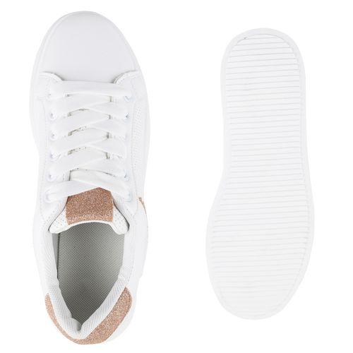 Gold Plateau Damen Plateau Rose Sneaker Damen WqX7STH