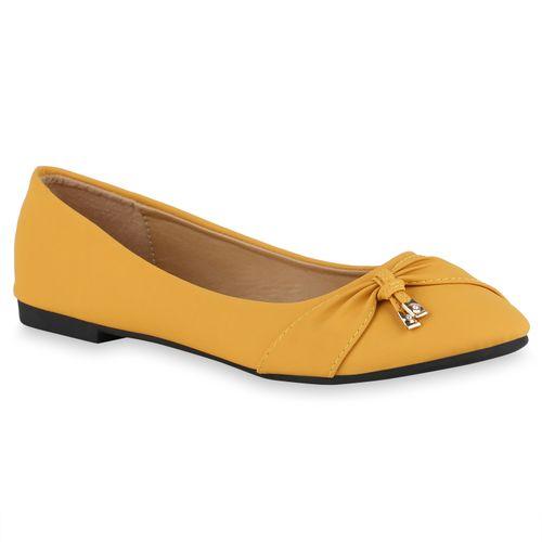 Damen Damen Gelb Gelb Ballerinas Ballerinas Klassische Ballerinas Klassische Gelb Klassische Damen r4pxqrwB