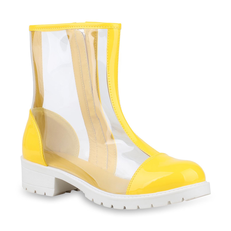 Damen Klassische Stiefeletten Gelb