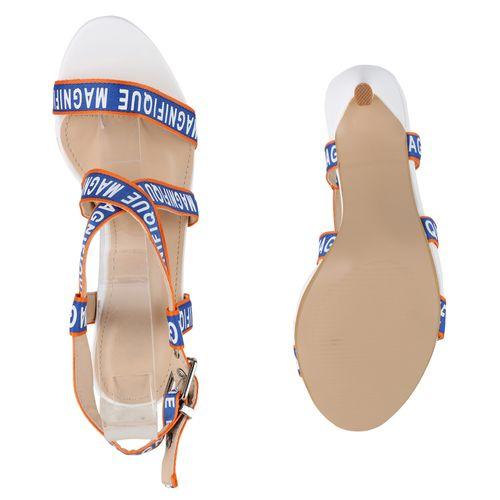 Riemchensandaletten Damen Damen Riemchensandaletten Sandaletten Sandaletten Weiß Weiß Damen HfWqnppR