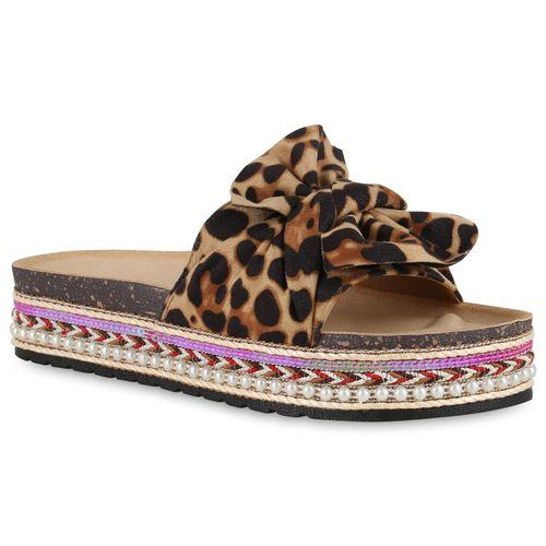 Sandaletten Pantoletten Damen Leopard Damen Sandaletten Pantoletten Owx6da