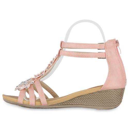 Damen Sandaletten Rosa Keilsandaletten Damen Sandaletten Rosa Keilsandaletten 5STR5wxr
