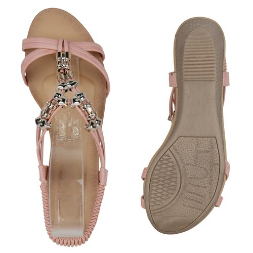 Keilsandaletten Sandaletten Damen Rosa Sandaletten Damen qpHgEt