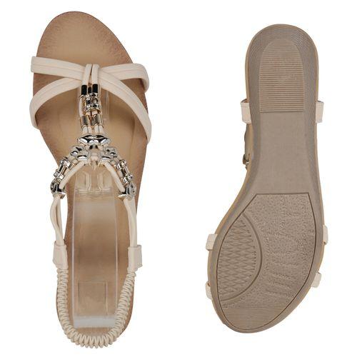 Damen Sandaletten Creme Keilsandaletten Sandaletten Damen Sandaletten Creme Damen Keilsandaletten wtYqPCrwx