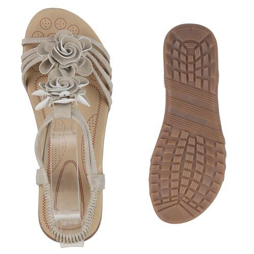 Creme Sandaletten Damen Sandaletten Riemchensandaletten Damen IBWZ4nwOq