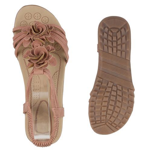 Damen Sandaletten Rosa Sandaletten Damen Riemchensandaletten Riemchensandaletten Rosa qWfzqvHO