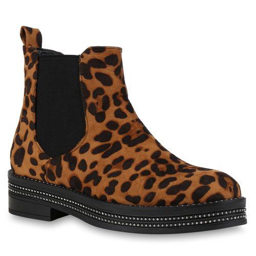 Klassische Stiefeletten Damen Leopard Leopard Stiefeletten Klassische Damen Klassische Damen UO6cWZ