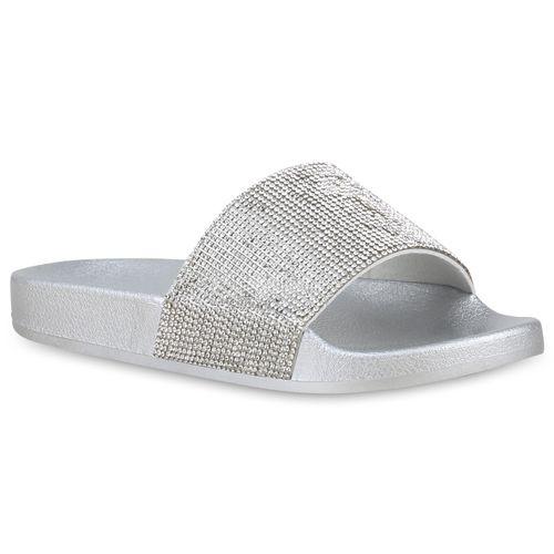 Damen Pantoletten Damen Sandalen Silber Silber Silber Sandalen Silber Damen Pantoletten Pantoletten Sandalen Pantoletten Sandalen Damen BwHxE