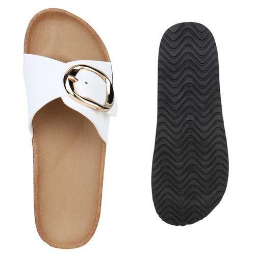 Sandalen Pantoletten Pantoletten Sandalen Damen Damen Weiß 5wv0HIqx