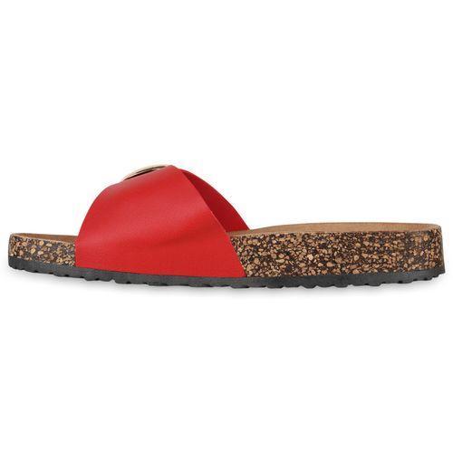 Rot Sandalen Sandalen Pantoletten Damen Rot Pantoletten Pantoletten Rot Sandalen Sandalen Damen Damen Damen SRwpwI1x