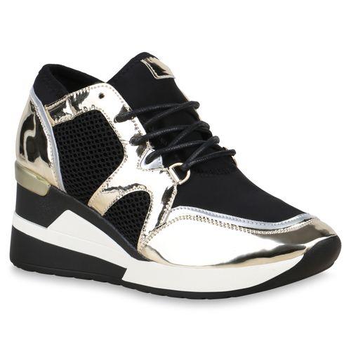 Damen Metallic Sneaker Wedges Wedges Gold Damen Sneaker SxAC7n