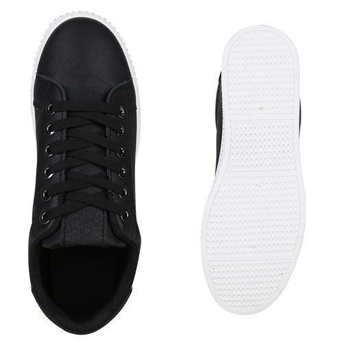 Damen Schwarz Sneaker Plateau Plateau Damen p4dndqxWH