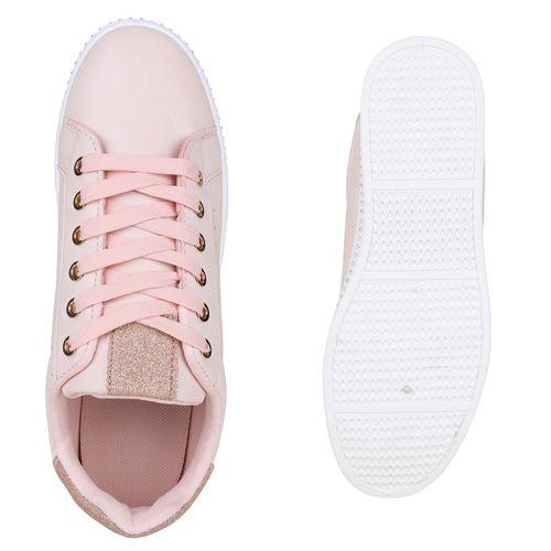 Plateau Damen Damen Rosa Plateau Sneaker fwCz7U4